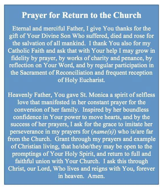 Prayer For A Return To The Church