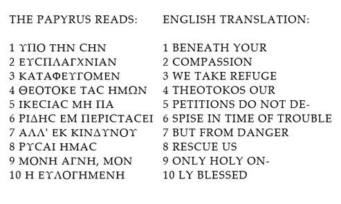 Prayer to Theotokos