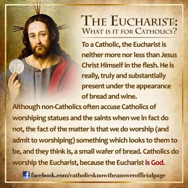 What we worship at Mass