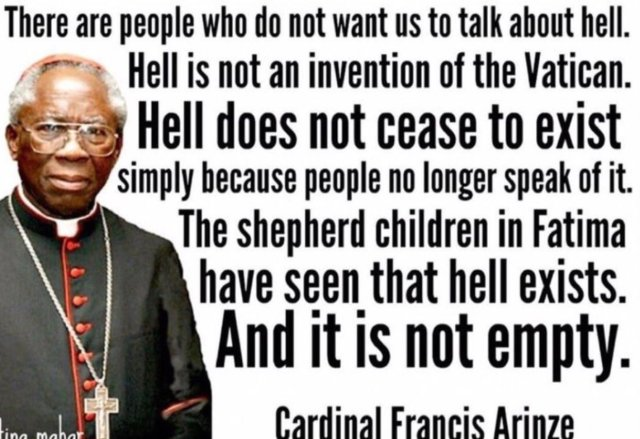 hell exists and it's not empty