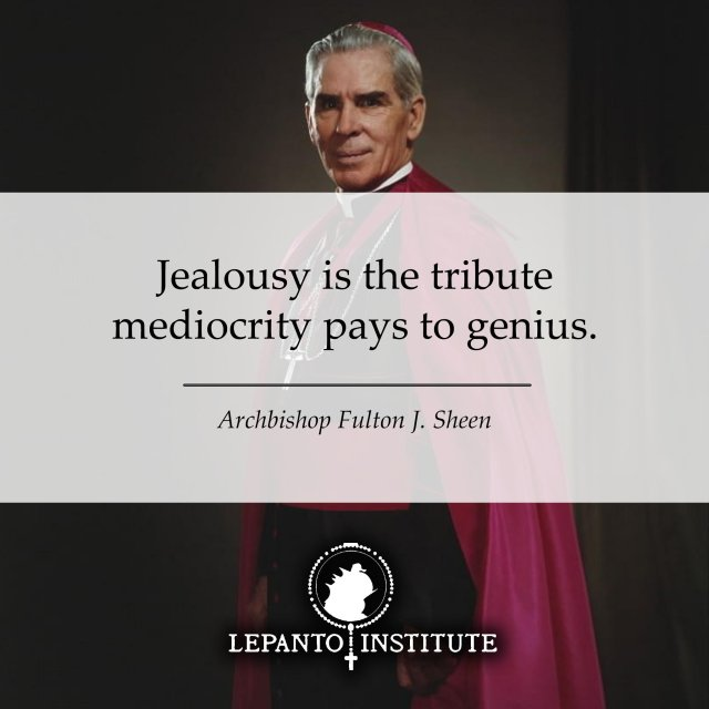 Sheen jealousy and mediocrity