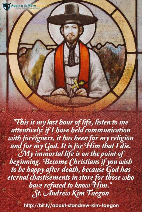 St. Andrew Kim Taegon martyr