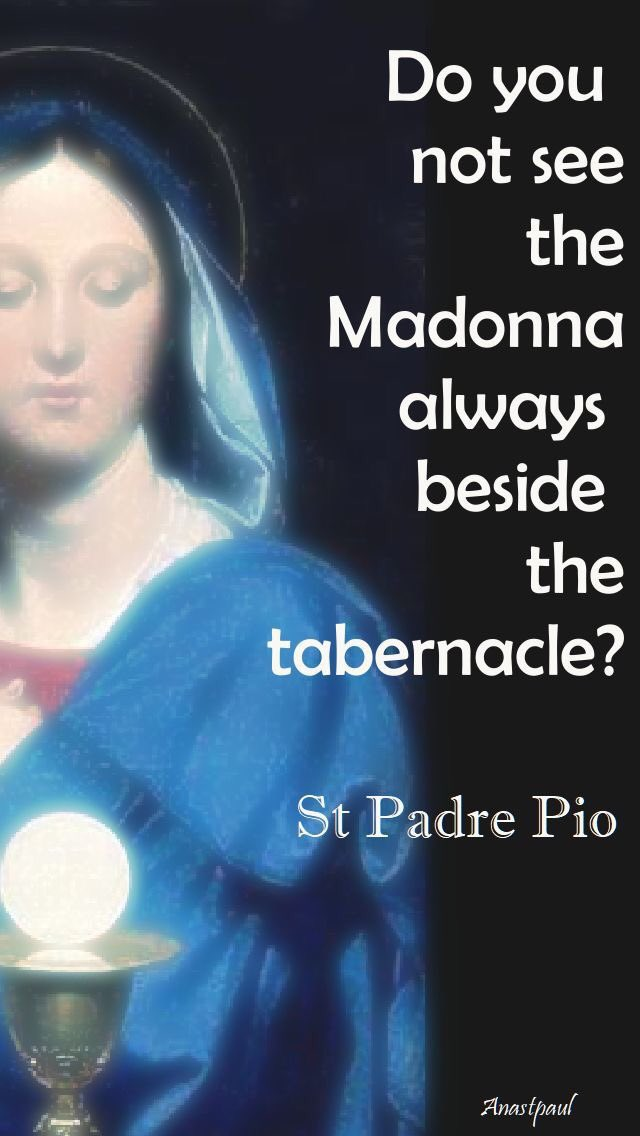 Madonna next to the tabernacle
