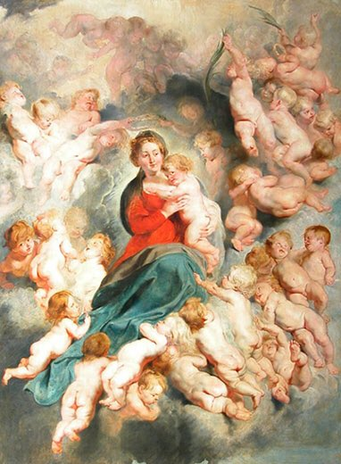 The Virgin and Child Surrounded by the Holy Innocents 1618 PeterPaulRubens1577-1640