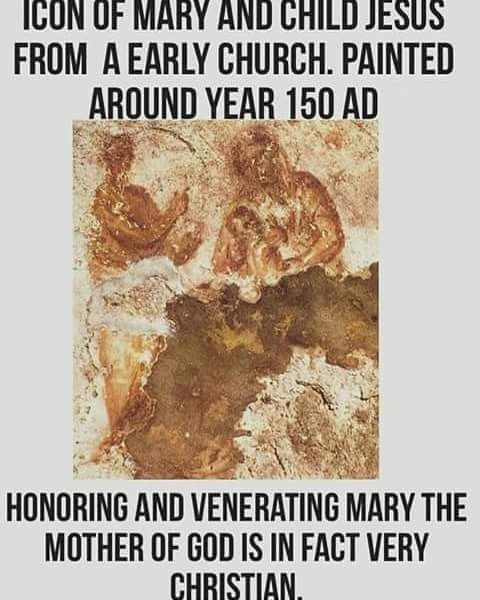 icon of Mary and Jesus dated 150 AD.jpg