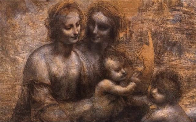The Virgin and Child with St Anne and St John the Baptist by Leonardo da Vinci.jpg