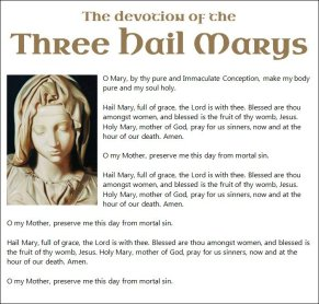 Thre Hail Marys 1