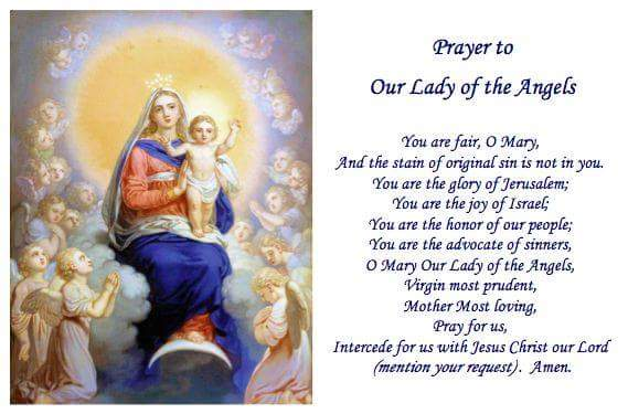 prayer to Our Lady Of The Angels