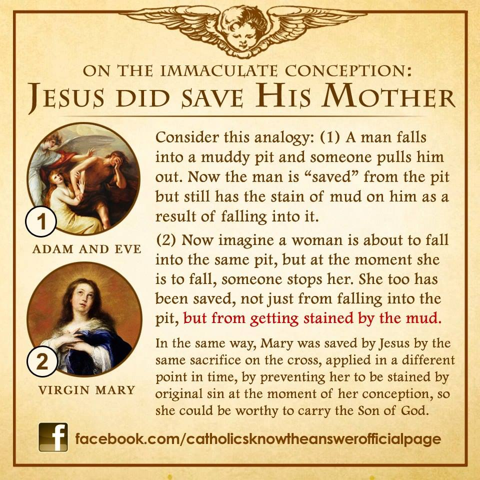 did Jesus save His Mother