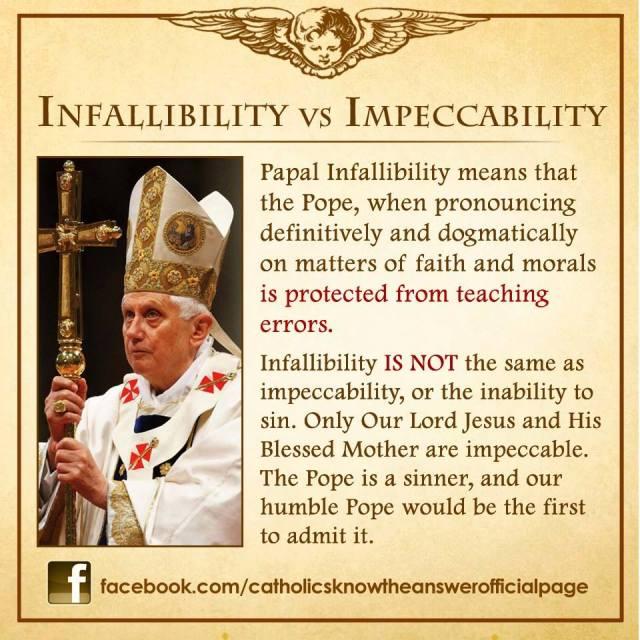 Infalibility vs Impeccability