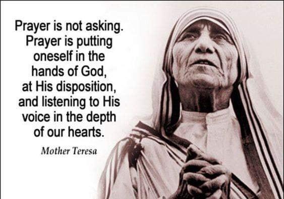 Prayer - Mother Teresa