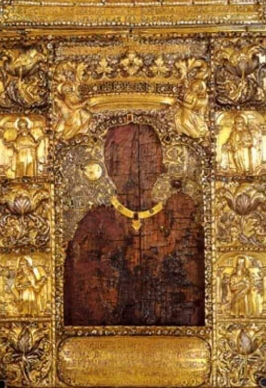 Theotocos Icon of the Virgin Mary painted in 50 AD in Turkey, attributed to Evangelist Luke..jpg