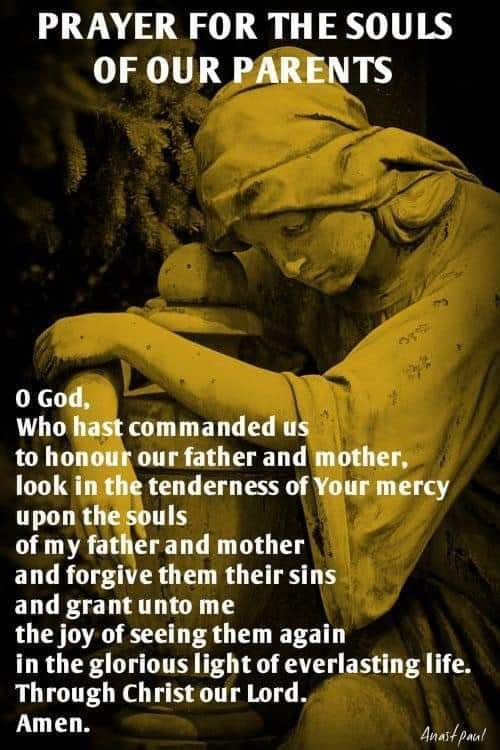 Prayer for the souls of our parents
