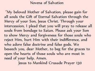 Novena of Salvation