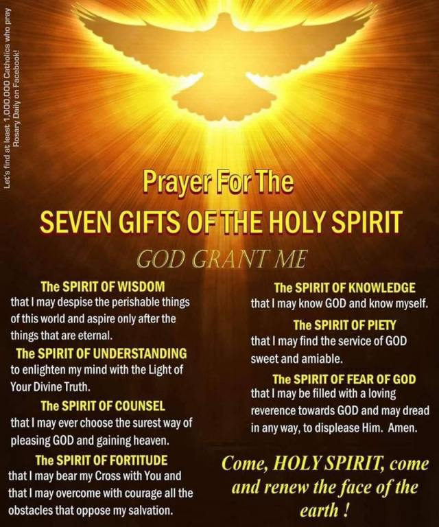 Prayer for the gifts of the Holy Spirit